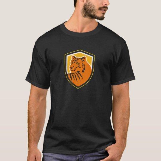 Tiger-vorderes HauptWappen Retro T-Shirt