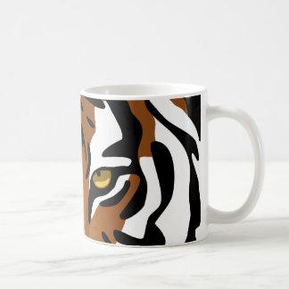 Tiger, wilde Katze auf Schwarzem Kaffeetasse