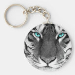 Tigre blanc noir porte-clés