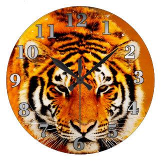 Tigre sibérien grande horloge ronde