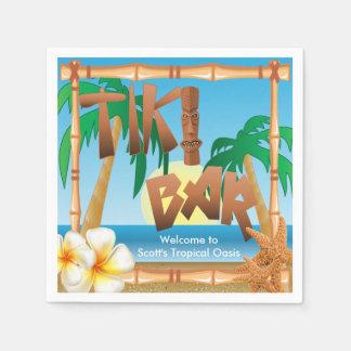 Tiki Bar - eine tropische Oase Serviette