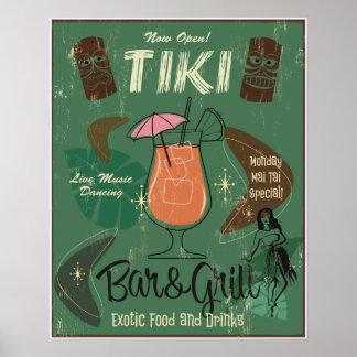 Tiki Bar&Grill Plakat