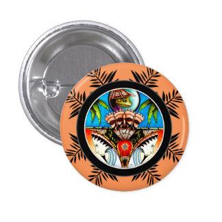 Tiki Frosch Runder Button 2,5 Cm