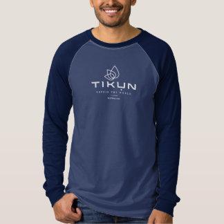 Tikun Logo-lange Hülse T T-Shirt