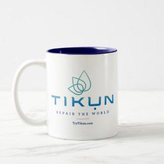 Tikun Logo-Tasse Zweifarbige Tasse