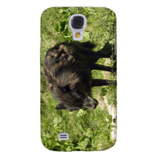 Timberwolf-grauer Wolf-wildes Tier iPhone Fall Galaxy S4 Hülle