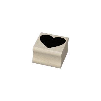 timbre d'art de silhouette de coeur
