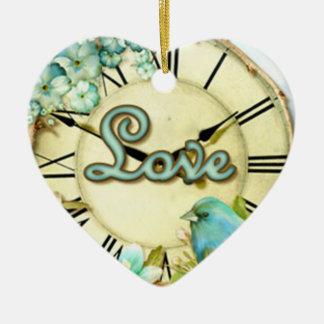 timeless Drossel whimsy LIEBE Keramik Ornament