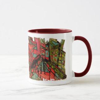 Times- Squarecnbc-Tintenweiß Tasse