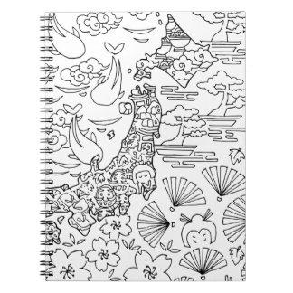 Tinte: JAPAN-Notizbuch Spiral Notizblock