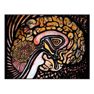 Tinten-Gehirn Postkarte