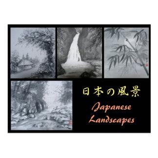 Tinten-Malerei-Postkarten-Japaner-Landschaften Postkarte