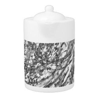 Tinten-Wäsche-Porzellan-Tee-Topf durch Künstler