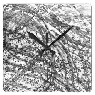 Tinten-Wäsche-Quadrat-Uhr durch Künstler C.L. Quadratische Wanduhr