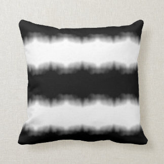 Tintenkleks Ombre schwarze Streifen Kissen
