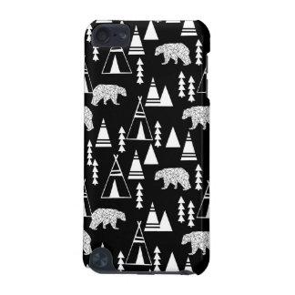Tipi-Waldbär - Schwarzes/Weiß/Andrea Lauren iPod Touch 5G Hülle