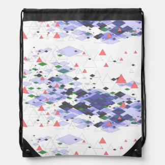 Tipiland geometrisches Dreiecke und Flächen Design Turnbeutel