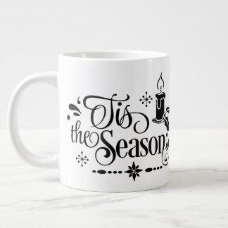 Tis die Jahreszeit, personalisierte Jumbo-Tasse