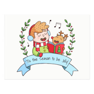 Tis die Jahreszeit, zum lustige Postkarten