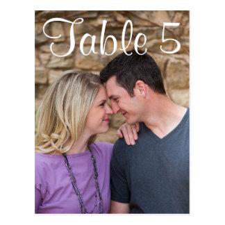 Tischnummer-Bild Postkarte