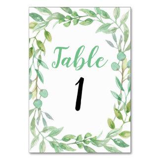 Tischnummer-Hochzeits-Garten-Party-rustikale Karte