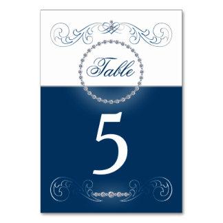 Tischnummerkarten der silbernen Hochzeit des
