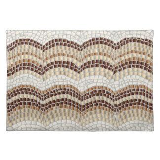 """Tischset 20"""" x14"""" mit beige Mosaik"""
