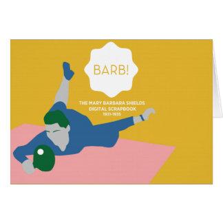 Tischtennis Barb Grußkarte