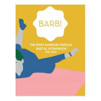 Tischtennis Barb Postkarte