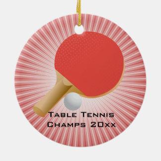 Tischtennis/Klingeln Pong Verzierung Rundes Keramik Ornament