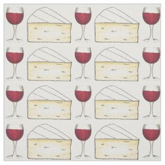 Tissu Verre de vin rouge et fin gourmet crémeux de