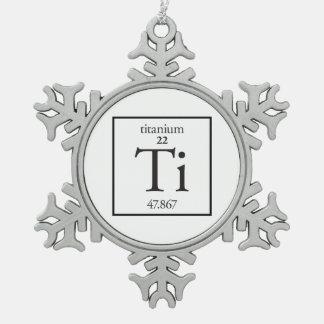 Titan Schneeflocken Zinn-Ornament