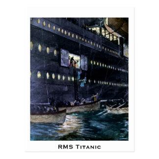 Titanisches Entweichen Effektivwerts zu den Postkarte