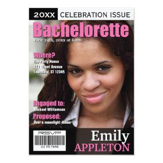 Titelseiten-pinkfarbene Bachelorette Einladungen