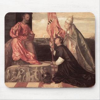 Titian : Pape Alexandre IV Jacopo de présentation  Tapis De Souris