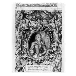 Titlepage der Bibel des Bischofs, Kneipe. im Jahre Postkarte