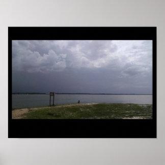 Titusville Strand-Florida-Stürme kommen herein Poster