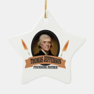 tj FF USA Keramik Stern-Ornament