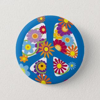 TJP Blumen-Power Runder Button 5,1 Cm