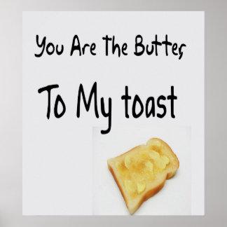 Toastbrot, Liebe-Wörter Poster