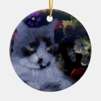 Toby-Katze/der General Rundes Keramik Ornament