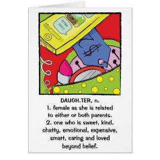 Tochter-Geburtstags-Gruß-Karten-humorvoller Bonbon Karte