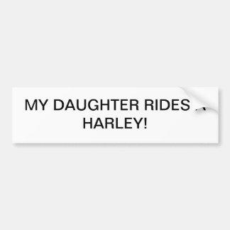 Tochter reitet ein harley autoaufkleber