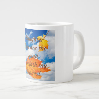 Tochter-Tasse sind Sie der Wind unter meinem Jumbo-Tasse