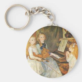 Töchter von Catulle Mendes durch Pierre Renoir Standard Runder Schlüsselanhänger