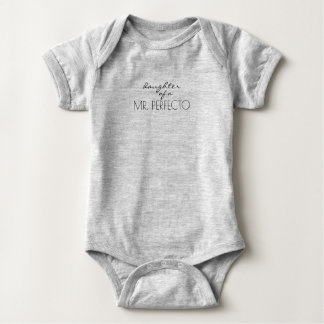Tochter/Wifey Herrn Perfect (O) Baby Strampler