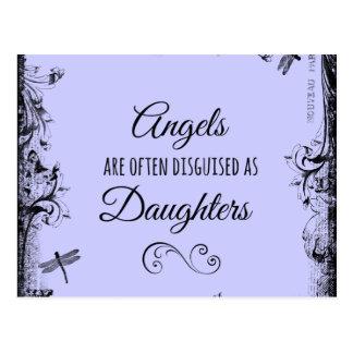 Tochter-Zitat: Engel sind häufig Postkarte