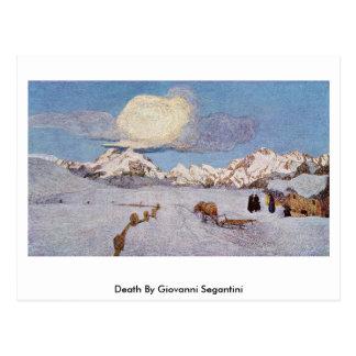 Tod durch Giovanni Segantini Postkarte