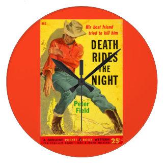Tod reitet den NachtWestern-Bucheinband Große Wanduhr