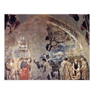 Tod und Beerdigung von Adam., durch Piero Della Personalisierte Einladungskarte
